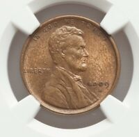 1909-S LINCOLN CENT, NGC MINT STATE 62 BN