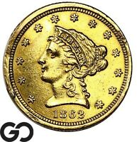 1862 QUARTER EAGLE $2.5 GOLD LIBERTY DETAILS CLEANED    FREE
