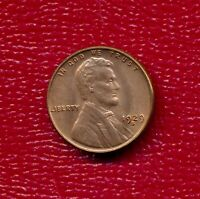 1929-S LINCOLN WHEAT CENT CHOICE RED BRILLIANT UNCIRCULATED SHIPS FREE