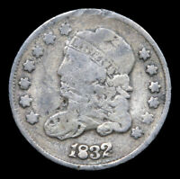 1832 CAPPED BUST HALF DIME, 5 CENTS.  - 117