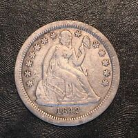 1842-O SEATED DIME - HIGH QUALITY SCANS D033