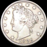 1886 LIBERTY VICTORY NICKEL NICELY CIRCULATED HIGH END PHILA