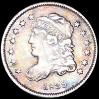 1835 CAPPED BUST HALF DIME LIGHTLY CIRCULATED PHILADELPHIA HIGH END 5C SILVER NR