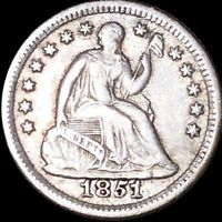 1851 O SEATED HALF DIME NEARLY UNCIRCULATED NEW ORLEANS 5C LIBERTY SILVER COIN