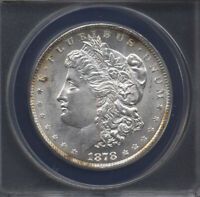 1878  8TF  VAM-14.1A      MINT STATE 63    ANACS    MORGAN DOLLAR 262-211