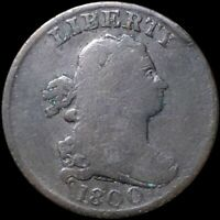 1800 DRAPED BUST HALF CENT NICELY CIRCULATED PHILADELPHIA 1/2C COPPER COIN NR
