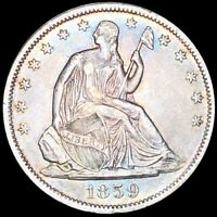 1859 O SEATED HALF DOLLAR APPEARS UNCIRCULATED NEW ORLEANS M