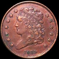1835 CLASSIC HEAD HALF CENT APPEARS UNCIRCULATED PHILADELPHIA RED 1/2C COPPER NR