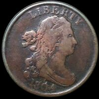 1804 DRAPED BUST HALF CENT LIGHTLY CIRCULATED PHILADELPHIA KEY DATE COPPER COIN