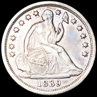 1839 O SEATED HALF DIME NEARLY UNCIRCULATED NEW ORLEANS 10C