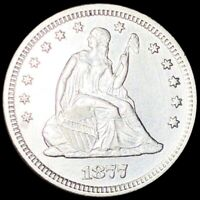 1877 S SEATED QUARTER APPEARS UNCIRCULATED SAN FRAN MS BU 25