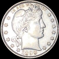 1899 BARBER QUARTER APPEARS UNCIRCULATED SHINY MS BU 25C SIL