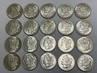 20 HIGH GRADE ORIGINAL CIRCULATED 1880-O MORGAN SILVER DOLLARS