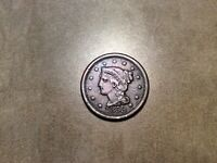 1853 BRAIDED HAIR LARGE CENT, FINE 5700
