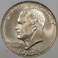 1973-S SILVER EISENHOWER DOLLAR ANACS MINT STATE 66 OLD SMALL HOLDER PURCHASED LATE 90'S