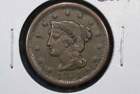 1851 BRAIDED HAIR LARGE CENT,  FINE