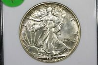 1942-S WALKING LIBERTY HALF, OLD ANACS MINT STATE 64