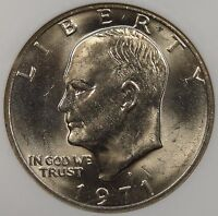 1971-D EISENHOWER DOLLAR NGC MINT STATE 65 PURCHASED LATE 90'S