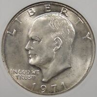 1971-S SILVER EISENHOWER DOLLAR ANACS MINT STATE 65 OLD SMALL HOLDER PURCHASED LATE 90'S
