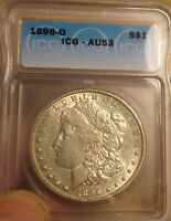 1896 O MORGAN DOLLAR ICG AU53 COMBINED SHIPPING ONLY $3.50 LOT 4393