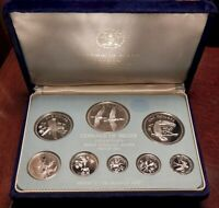 1979 BELIZE STERLING SILVER PROOF SET   FRANKLIN MINT   3.1128 ASW   VELVET CASE