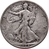 1928-S LIBERTY WALKING SILVER HALF DOLLAR