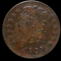 1809 CLASSIC HEAD HALF CENT LIGHTLY CIRCULATED HIGH END EARL