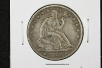 1855 O ARROWS SEATED HALF DOLLAR VF