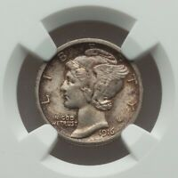 1916 S MERCURY DIME NGC MS 64 FB