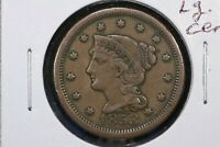 1853 BRAIDED HAIR LARGE CENT FINE