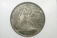 1844 LIBERTY SEATED HALF DOLLAR NGC AU 58 NICE COLOR