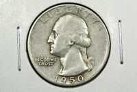1950 D/S WASHINGTON QUARTER  VARIETY FINE