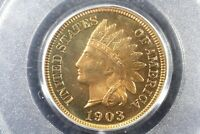 1903 NEAR GEM PROOF INDIAN HEAD CENT PCGS PR 64RD