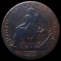 1781 NORTH AMERICAN TOKEN NICELY CIRCULATED COLONIAL COPPER