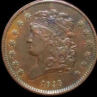 1835 CLASSIC HEAD HALF CENT CLOSELY UNCIRCULATED PHILADELPHI