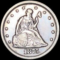 1875 S TWENTY CENT PIECE CLOSELY UNCIRCULATED SAN FRAN 20C LIBERTY SILVER COIN