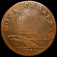 1787 NEW JERSEY NOVA CAESAREA COPPER CENT NICELY CIRCULATED
