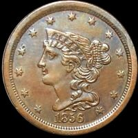 1856 BRAIDED HAIR HALF CENT APPEARS UNCIRCULATED PHILADELPHI
