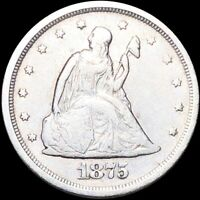 1875 S SEATED TWENTY CENT PIECE NEARLY UNCIRCULATED SAN FRAN LIBERTY SILVER NR