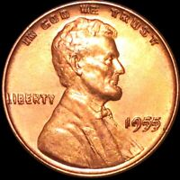1955/55 DDO LINCOLN WHEAT PENNY BU UNCIRCULATED THE BEST OF