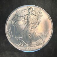 1993 UNCIRCULATED AMERICAN SILVER EAGLE US MINT ISSUE 1OZ PURE SILVER I053