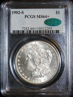1902-S MORGAN SILVER DOLLAR PCGS MINT STATE 64 CAC
