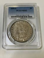 1890-S $1 MORGAN DOLLAR PCGS MINT STATE 62