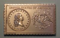 1794 UNITED STATES FLOWING HAIR DOLLAR NUMISTAMP MEDAL COIN 1975 REED LIMITED
