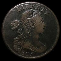 1805 DRAPED BUST LARGE CENT LIGHTLY CIRCULATED PHILADELPHIA HIGH END 1C COPPER