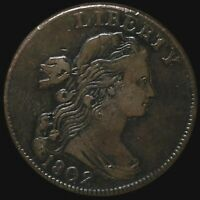 1802 DRAPED BUST LARGE CENT NICELY CIRCULATED PHILADELPHIA HIGH END 1C COPPER NR