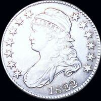 1822 CAPPED BUST HALF DOLLAR NEARLY UNCIRCULATED PHILLY HIGH