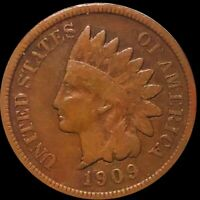 1909 S INDIAN HEAD PENNY NICELY CIRCULATED SAN FRANCISCO RED