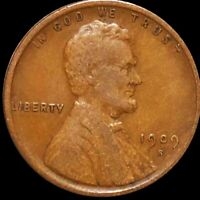 1909 S LINCOLN WHEAT PENNY LIGHTLY CIRCULATED SAN FRAN RED B
