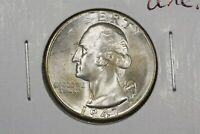 1947 D WASHINGTON QUARTER NEAR GEM BU